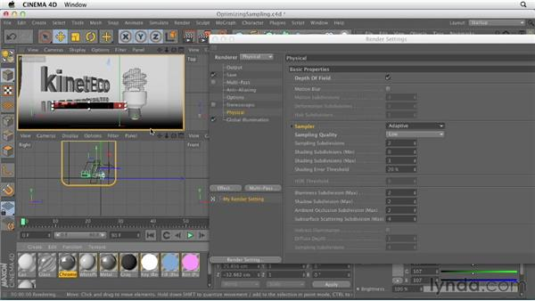 Optimizing physical sampling settings: Production Rendering Techniques in CINEMA 4D