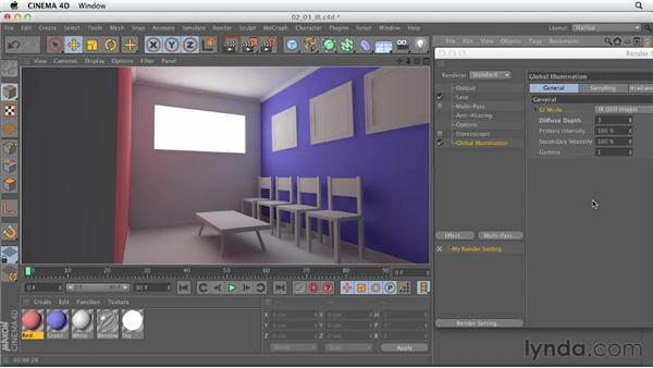 Utilizing Irradiance Cache global illumination: Production Rendering Techniques in CINEMA 4D