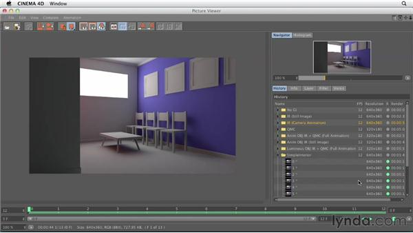 Choosing a global illumination mode for animated scenes: Production Rendering Techniques in CINEMA 4D