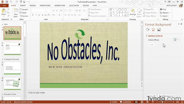 Touring the PowerPoint interface: PowerPoint 2013 Essential Training