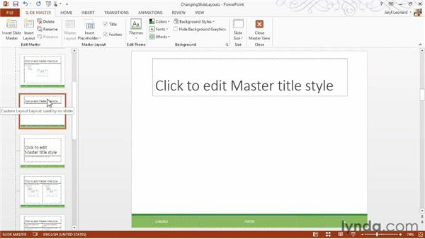 Changing the slide layout: PowerPoint 2013 Essential Training