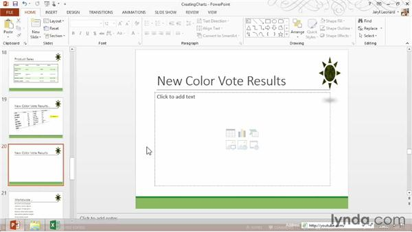 Creating and formatting charts: PowerPoint 2013 Essential Training