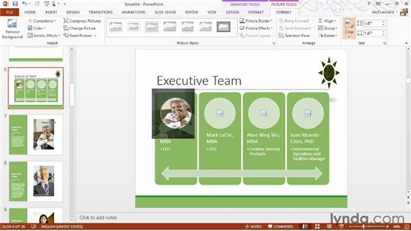 Using SmartArt to create diagrams: PowerPoint 2013 Essential Training