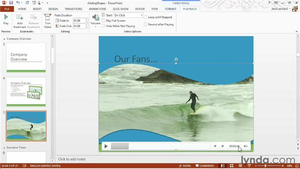 Working with video clips: PowerPoint 2013 Essential Training
