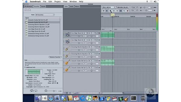 starting a rough arrangement: Soundtrack Essential Training