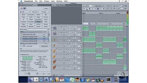 auditioning new loops: Soundtrack Essential Training