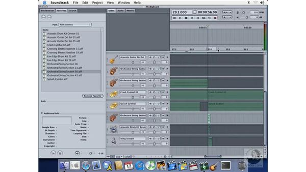 selecting a playback region: Soundtrack Essential Training