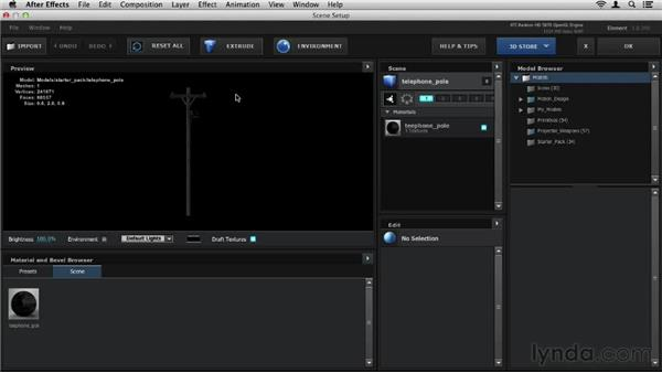 Changing an object's anchor point: Element 3D Essential Training