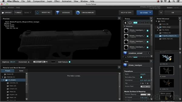 Using expansion packs: Element 3D Essential Training