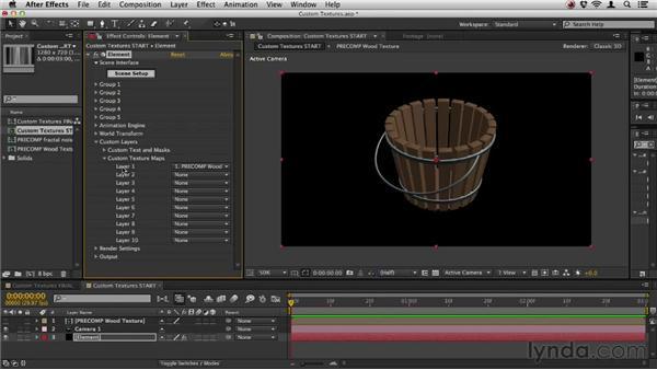 Using custom textures: Element 3D Essential Training