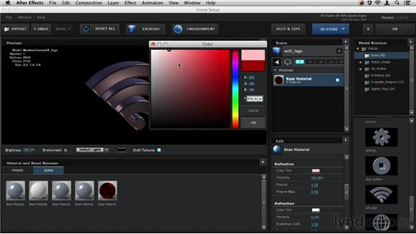 Working with reflections: Element 3D Essential Training