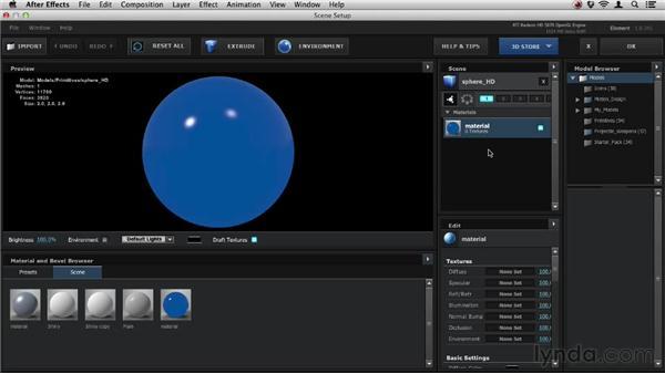 Adding illumination: Element 3D Essential Training