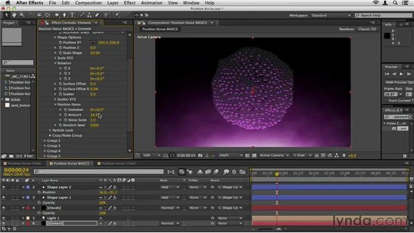 Animating Position Noise: Element 3D Essential Training