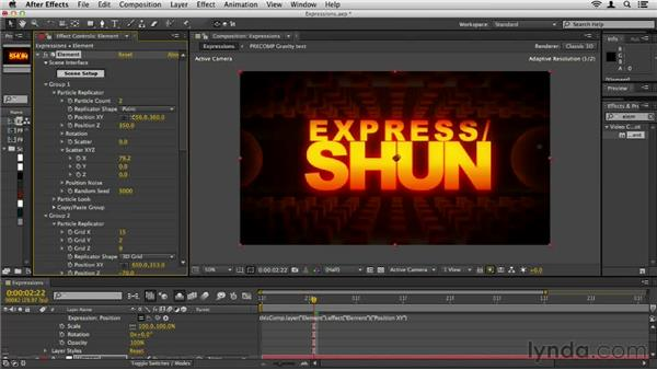 Working with expressions: Element 3D Essential Training