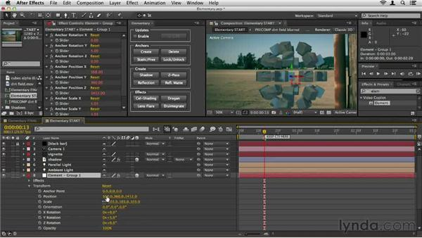 Using the Elementary script: Element 3D Essential Training