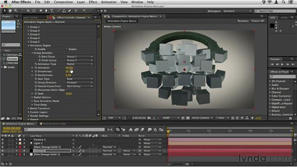 Using the animation engine: Element 3D Essential Training
