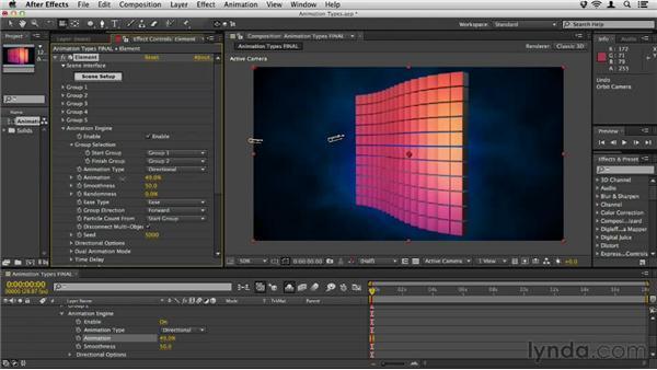 Understanding animation types: Element 3D Essential Training