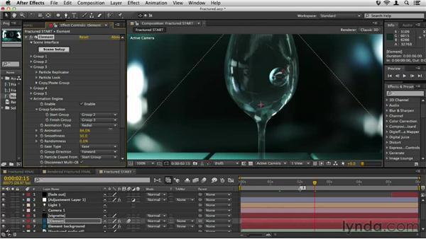 Fracturing objects: Element 3D Essential Training