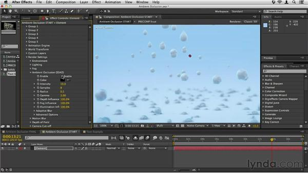 Using ambient occlusion (AO): Element 3D Essential Training