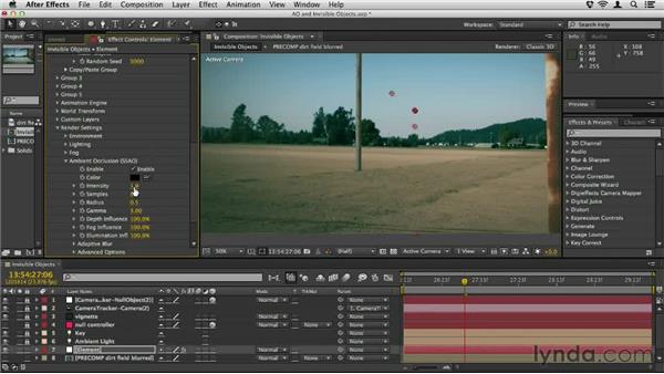 Using AO with invisible objects: Element 3D Essential Training