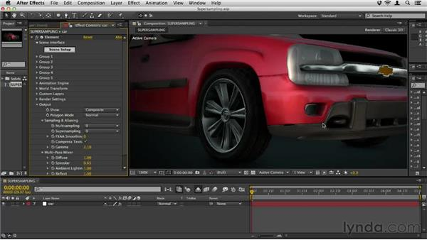 Enhancing with supersampling: Element 3D Essential Training
