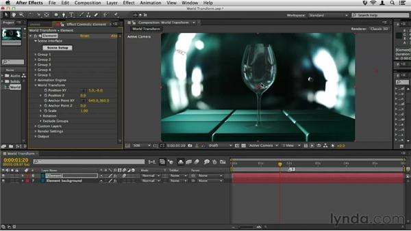 Working with World Transform: Element 3D Essential Training