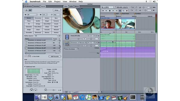 using soundtrack with final cut pro 4: Soundtrack Essential Training