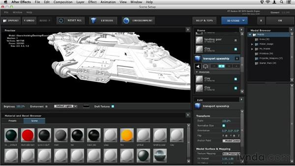 Looking at the models: Element 3D Essential Training