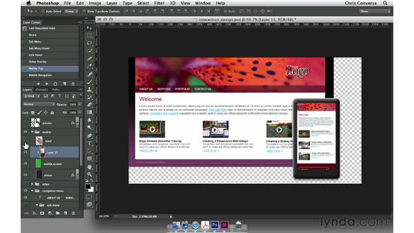 Introduction to layer comps in Photoshop: Design the Web: Layer Comps