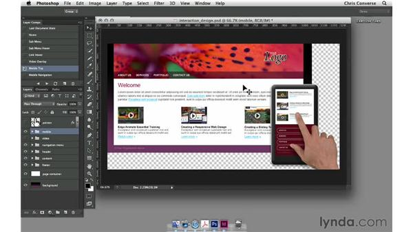 Exporting layer comps to a multipage PDF: Design the Web: Layer Comps