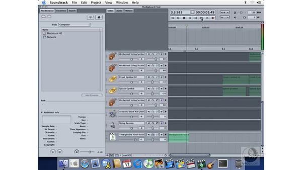 recording audio in soundtrack: Soundtrack Essential Training