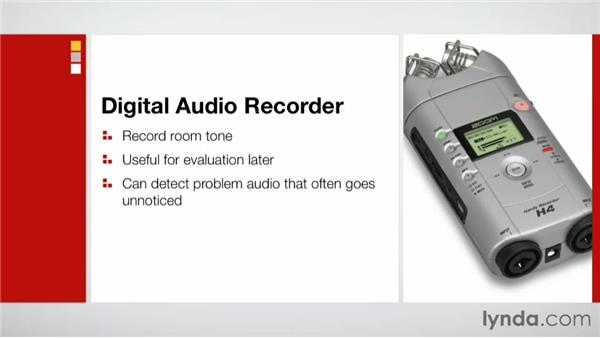 Recording audio during a site survey: Effective Site Surveys for Video and Photo Projects