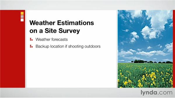 Weather estimations: Effective Site Surveys for Video and Photo Projects