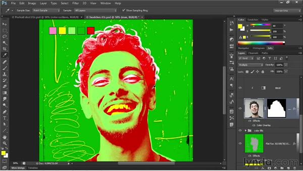 197 Creating opaque colored shadows: Deke's Techniques