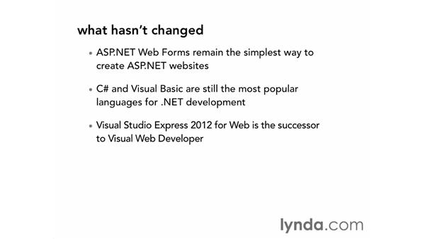 What's new in this course update (NEW): ASP.NET Essential Training