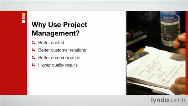 The benefits of project management: Practical Project Management for Creative Projects