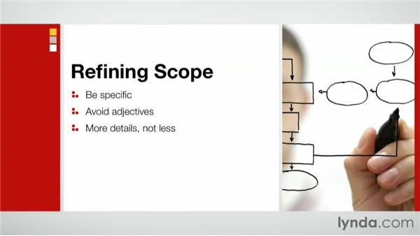 Refining scope: Practical Project Management for Creative Projects