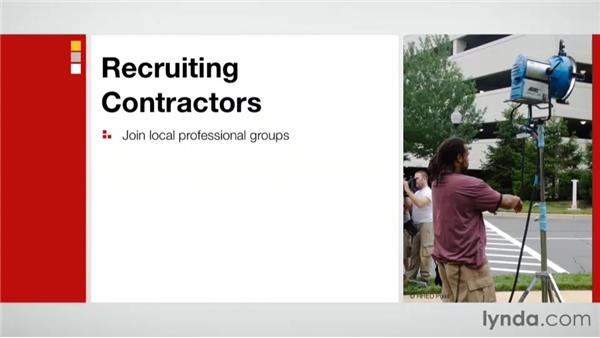 Recruiting contractors: Practical Project Management for Creative Projects