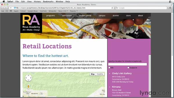 Exploring the course and browser requirements: HTML5 Projects: Integrating Google Store Locator