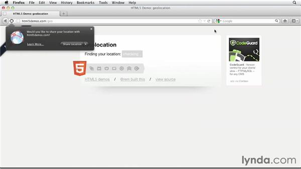 Examining highlighted HTML5, CSS3, and JavaScript technologies: HTML5 Projects: Integrating Google Store Locator