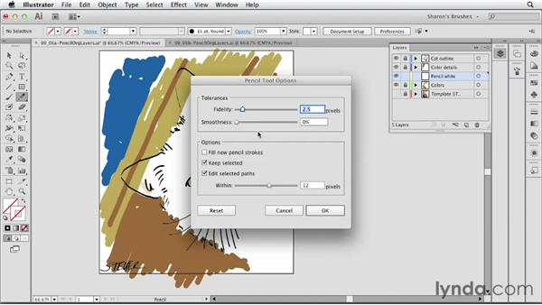 A little bit about the Pencil tool: Artistic Painting with Illustrator: Natural Media Brushes