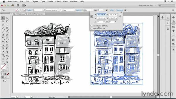 Exploring ways to scale brushstrokes: Artistic Painting with Illustrator: Natural Media Brushes