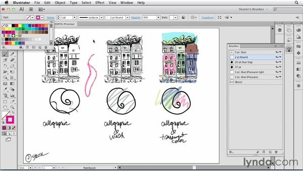 Understanding the Calligraphic Brush: Artistic Painting with Illustrator: Natural Media Brushes