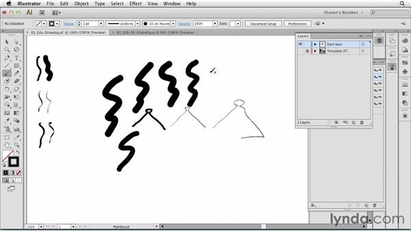 Drawing with calligraphic brushes: Artistic Painting with Illustrator: Natural Media Brushes