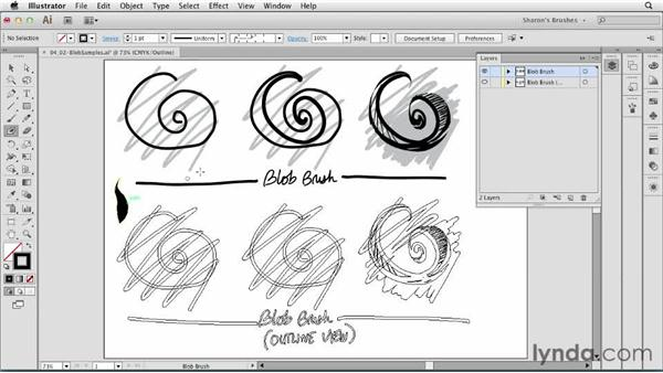 Understanding the Blob Brush: Artistic Painting with Illustrator: Natural Media Brushes