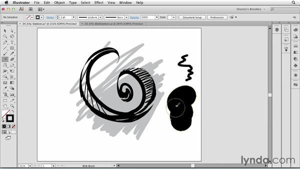 Basic Blob Brush options: Artistic Painting with Illustrator: Natural Media Brushes