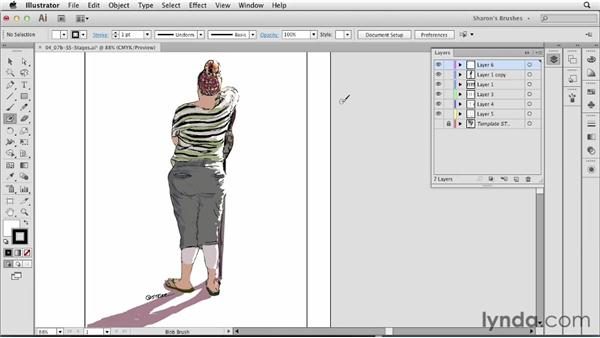 Example of Blob Brush artwork: Artistic Painting with Illustrator: Natural Media Brushes