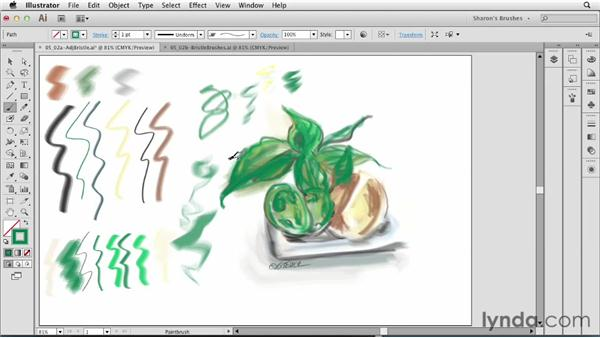 Adjusting brushstrokes with modifier keys: Artistic Painting with Illustrator: Natural Media Brushes