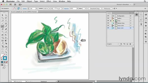 Creating complex artwork with brushes: Artistic Painting with Illustrator: Natural Media Brushes