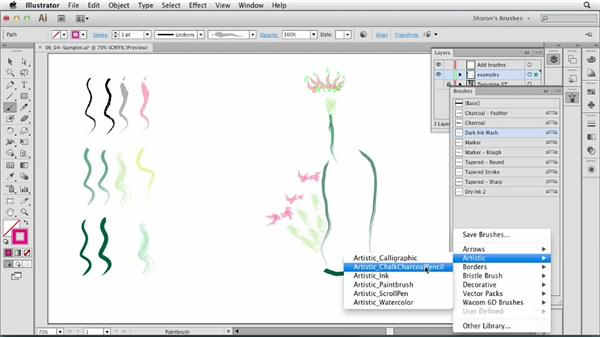 Drawing and painting with naturalistic art brushes: Artistic Painting with Illustrator: Natural Media Brushes
